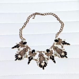 Korean Statement Gemstone Necklace